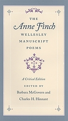 The Anne Finch Wellesley manuscript poems