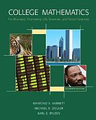 College mathematics for business, economics, life sciences and social sciences
