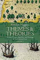Themes and theories : selected essays, speeches, and writings in international law