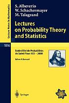 Lectures on probability theory and statistics