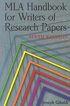 MLA handbook for writers of research papersMLA handbook for writers of research papers