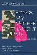 Songs my mother taught me : stories, plays, and memoir