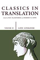 Classics in translation. Latin literature Classics in translation