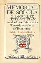 Memorial de Sololá, Anales de los cakchiqueles
