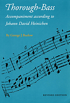 Thorough-bass accompaniment according to Johann David Heinichen