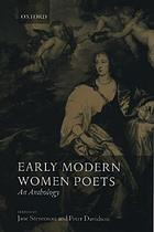 Early modern women poets, (1520-1700) : an anthology