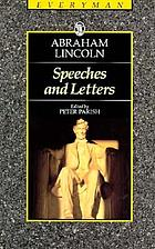 Speeches and letters, 1832-1865
