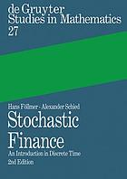 Stochastic finance an introduction in discrete time