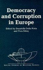 Democracy and corruption in Europe