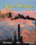 Applied statistics : a first course in inference