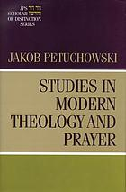 Studies in modern theology and prayer