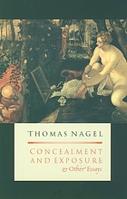 Concealment and exposure and other essays