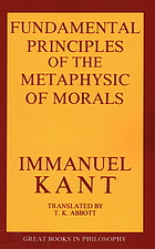 Foundations of the metaphysics of morals, and What is enlightenment?