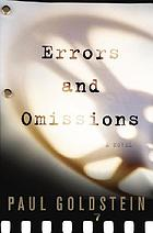 Errors and omissions : a novel
