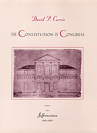 The Constitution in Congress : the Jeffersonians, 1801-1829