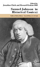 Samuel Johnson in historical context