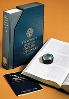 The compact Oxford English dictionary : complete text reproduced micrographically