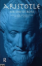 Aristotle; a collection of critical essays
