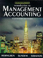 Introduction to management accounting = (formerly Accounting for management control, an introduction)