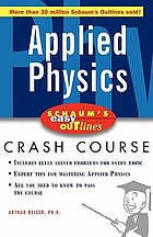 Applied physics : based on Schaum's outline of theory and problems of applied physics (Third edition) by Arthur Beiser