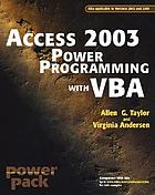 Access 2003 power programming with VBA