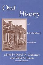 Oral history : an interdisciplinary anthology