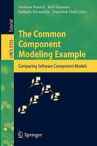 The common component modeling example comparing software component models
