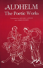 Aldhelm, the poetic works