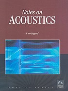 Notes on acoustics