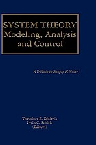 System theory : modeling, analysis, and control