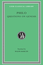 Philo. Supplement I. Questions and answers on Genesis
