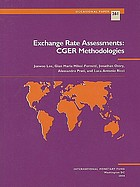 Exchange rate assessments : CGER methodologies