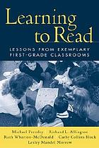Learning to read : lessons from exemplary first-grade classrooms