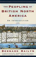 The peopling of British North America : an introduction