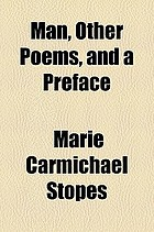 Man, other poems, and a preface