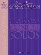 Classical contest solos. Mezzo-soprano : with companion CD