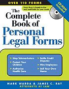The complete book of personal legal forms : + CD-ROM