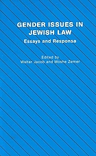 Gender issues in Jewish law : essays and responsa