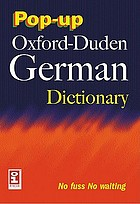 The pop-up Oxford-Duden German dictionary