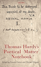 "Thomas Hardy's ""poetical matter"" notebook"