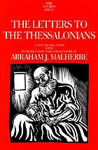 The letters to the Thessalonians : a new translation with introduction and commentary