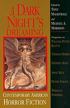 A dark night's dreaming : contemporary American horror fiction