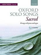 Oxford solo songs : sacred : 16 songs with piano or organ