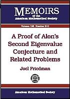 A proof of Alon's second eigenvalue conjecture and related problems