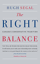 The right balance : Canada's conservative tradition