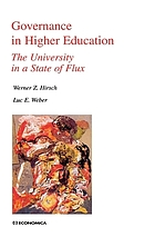 Governance in higher education : the university in a state of flux