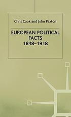 European political facts, 1848-1918