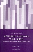 Managing employee well-being