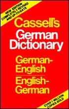 Cassell's German-English, English-German dictionary = Deutsch-englisches, englisch-deutsches WörterbuchCassell's German & English dictionaryCassell's German dictionary : German-English, English-German : based on the editions by Karl Breul