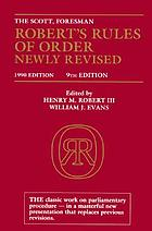 The Scott, Foresman Robert's Rules of order newly revised